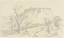 View of Bijaigarh (U.P.). 25 December 1868